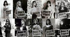 """Elizabeth Taylor en """"Cleopatra"""" (1963). Diseño de vestuario: Vittorio Nino Novarese, Renie Conley (Renié) e Irene Sharaff, esta última encargada del vestuario de Liz Taylor.  La actriz tiene 65 cambios de look y un total de 26.000 trajes hicieron falta para vestir a actores y extras."""