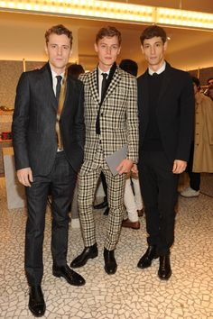Models George Barnett, Janis Ancens and Nicolas Ripoll in Valentino looks for FW 13/14