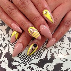 Neon Yellow and nude