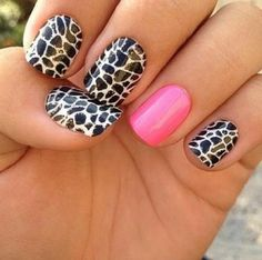 Zebra Nail Art Design Are Popular For Nail Art Ideas