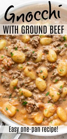 This ground beef gnocchi recipe takes store-bought gnocchi to the next level. Beef Dishes, Pasta Dishes, Food Dishes, Gnocchi Dishes, Main Dishes, Ground Beef Recipes For Dinner, Easy Dinner Recipes, Best Ground Beef Recipes, Meat Recipes