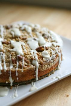 Apple Streusel Cake with Cream Cheese Glaze
