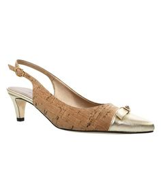 e87833869867 Look at this Natural  amp  Platino Tiffany Slingback on  zulily today! That  Look