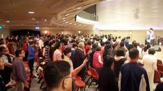 People responding wholeheartedly to the Lord during the altar call at Taipei Truth Church ...
