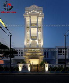 Mẫu thiết kề nhà phố đẹp 5 tầng mang đậm kiến trúc Phương Tây - Kiến An Vinh