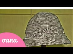 cappello cloche all 'uncinetto - YouTube