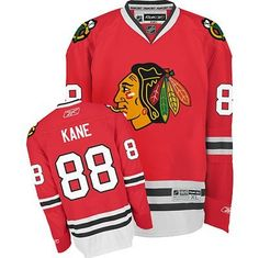 NHL Reebok Patrick Kane Chicago Blackhawks Youth Replica Jersey - Red (Large/X-Large) by Reebok. $62.99. A young hockey fan of any age will look great while cheering on their favorite team and player in this awesome Youth Replica NHL Jersey from Reebok. Features screen printed name and logo's and is very durable and machine washable. Officially licensed by the NHL.