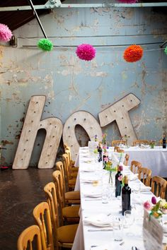 Neon accessories in this industrial retro wedding by @davidmcneil on @LoveMyDress Blog