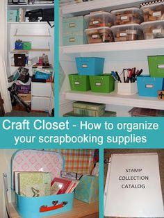 My Great Challenge: Craft closet - How I organize scrapbooking supplie...