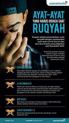 Ayat yang Harus Dibaca Saat Ruqyah Hijrah Islam, Doa Islam, Islam Religion, Islamic Quotes Wallpaper, Islamic Love Quotes, Islamic Inspirational Quotes, Hadith Quotes, Muslim Quotes, Quran Quotes