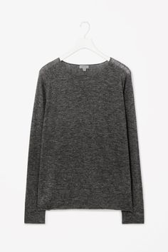Fine-knit melange jumper