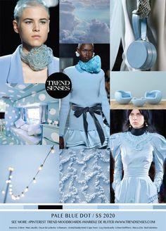 Moodboard Pale Blue Dot Spring Summer 2020 - pinupi love to share 2020 Fashion Trends, Spring Fashion Trends, Fashion 2020, Home Fashion, Fashion Top, Daily Fashion, Fashion Dresses, Spring Summer Trends, Spring Summer Fashion