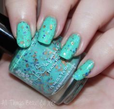 KBShimmer Funky Cold Patina Nail Polish - more swatches from this collection on All Things Beautiful XO