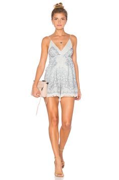 Alice Mccall I Drift In Your Eyes Playsuit Lace Playsuit, Ruffle Romper, Honeymoon Outfits, Alice Mccall, Lace Kimono, Revolve Clothing, Dress Backs, Festival Fashion, Fall Outfits