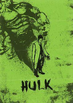 Beautiful Hulk Poster Art and More by Daniel Norris - News - GeekTyrant Hulk Poster, Superhero Poster, Poster S, Hulk Marvel, Marvel Heroes, Hulk Avengers, Hulk 3, Comic Books Art, Comic Art