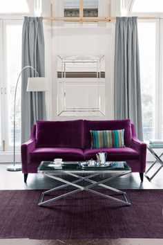 @domdahomie -- look at this room w/ a purple couch!
