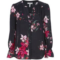 Joie Keno Floral Blouse ($248) ❤ liked on Polyvore featuring tops, blouses, print, silk print blouse, flower print blouse, mixed print top, joie tops and floral print tops