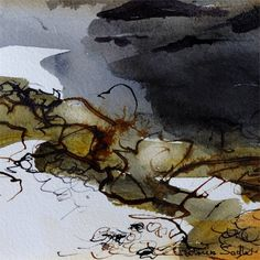 Seascapes, seascape painting, seascape art by Patricia Sadler Abstract Landscape Painting, Seascape Paintings, Abstract Watercolor, Watercolor And Ink, Landscape Art, Watercolor Landscape, Landscape Paintings, Abstract Art, Collages