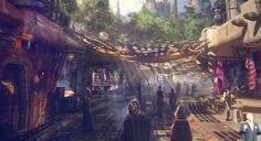 Star Wars Land – Both Disneyland and Disney World (art released 2015)