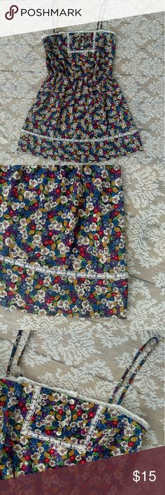 Anthropologie Vasia Floral Dress Gorgeous floral slip dress. In great condition. Beautiful lace accents. Lightweight material. Size small. Measurements to come 30% off bundles Make Offers Vasia Dresses Mini