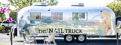 This Adorable Airstream Is Actually a Nail Salon… Luxury Nail Salon, Nail Salon Design, Nail Salon Decor, Luxury Nails, Mobile Nail Salon, Mobile Beauty Salon, Mobile Nails, Airstream, French Nails