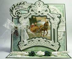 Anja Zom kaartenblog: juli 2013 Marianne Design, Picture Cards, Vintage Cards, Vintage Christmas, Christmas Cards, Frame, Winter, Pictures, Crafts