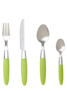 This 16 piece lime green cutlery set from BHS is an essential for students! Give Peas A Chance, Cutlery Set, Ice Cream Scoop, Home Accessories, Fondant, Lime, Campervan, Caravan, Christmas Ideas