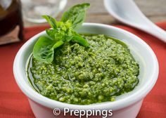 Pesto Sauce - Basil, Pine Nuts, Parmesan Cheese, Garlic, Olive Oil :: Search alternative ingredients @ preppings.com