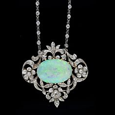 Diamond and Opal Edwardian Necklace...  LOVE