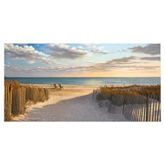 Transform your home into a tranquil seaside oasis with this beautiful canvas print, perfect as a statement piece or composed as an imaginative beach-chic vig...