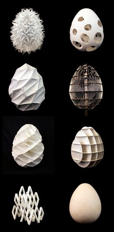 EGGS_MATSYS_Advanced Architecture Studio at the California College of the Arts_Materials: Wood, Plastic, Composites, Paper, etc. Paper Architecture, Architecture Design, Biomimicry Architecture, Architecture Models, Art Design, Design Model, Sculpture Textile, Geometric Sculpture, 3d Art