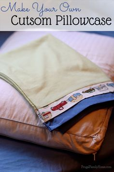 This gift is an easy project you can complete in about an hour. If you can sew a pretty straight line you can make these custom pillowcases.