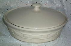 just broke my lid - Longaberger Ivory 2 Quart Casserole
