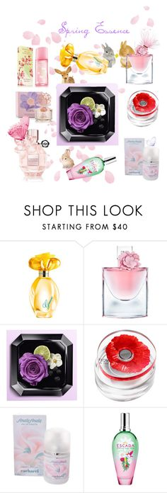 """""""Spring essence"""" by fashionko ❤ liked on Polyvore featuring beauty, GUESS, Lancôme, Kenzo, Cacharel, ESCADA, Viktor & Rolf, Vince Camuto and Elizabeth Arden"""