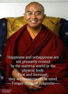 Yongey Mingyur Rinpoche Takes daily practice and is a good habit to form ; Buddhist Wisdom, Buddhist Quotes, Tibetan Buddhism, Spiritual Wisdom, Buddhist Philosophy, Philosophy Quotes, Cool Words, Wise Words, Mindfulness Meditation