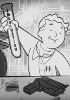 fallout boy, pip boy, imagination
