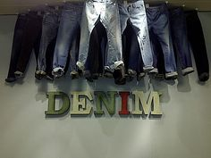 Selfridges, London - Worn Metal Letters for Menswear Denim Department Droog