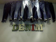 Selfridges, London - Worn Metal Letters for Menswear Denim Department Droog