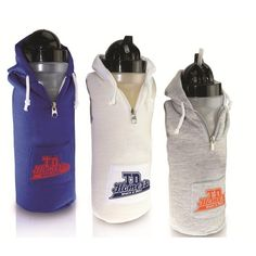 water bottle is covered with a hooded sweatshirt. Made of Bio-DPS biodegradable (in landfill conditions according to ASTM material Bpa Free Bottles, Water Bottles, Stainless Steel Bottle, Ceramic Mugs, Biodegradable Products, Hooded Sweatshirts, Drinkware, Stay Hydrated, Pocket