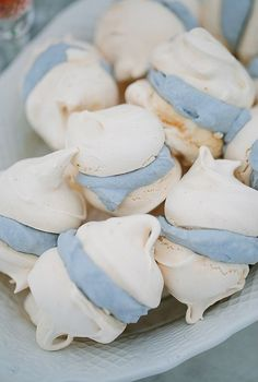 Delicious Desserts for your Dessert Table Baby Blue Weddings, Bleu Pastel, Blue Christmas, Pantone Color, Blue Cream, Dessert Table, Delicious Desserts, Sweet Tooth, Sweet Treats