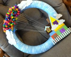 Balloon Wreath Inspired by Up by ThePickledBug on Etsy, $25.00
