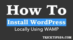 Using of Localhost for WordPress