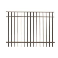 Ironcraft 5-ft x 6-ft Powder Coated Aluminum Fence Panel in Berkshire Bronze Color $69.70