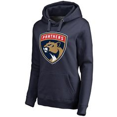 Florida Panthers Women's New Logo Pullover Hoodie - Navy - $59.99