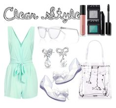 """Crystal Clear"" by daniellemtartaglione ❤ liked on Polyvore featuring Melissa, Bling Jewelry, Prism, Bobbi Brown Cosmetics, Bare Escentuals, NARS Cosmetics, clear and Seethru"