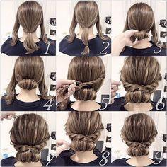 消えてしまってたので再up!  自分でもできる簡単アレンジ☆  ミディアム編☆  一般の方向けに 簡単おシニヨンアレンジ☆  時間がなくても 簡単にできるので 是非お試し下さい☆  #ヘアアレンジ#コーデ#アクセ #ファッション#大阪#東京#gスタイル# hairstyle#beauty#fashion#girl