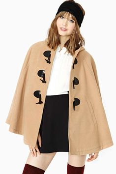 Capes: so desirable and yet so impractical. Nasty Gal English Nights Cape