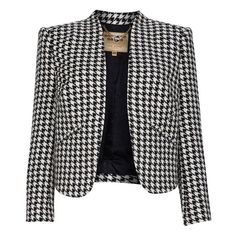 Top Products / Ted Baker Biani houndstooth curved hem blazer found on... via Polyvore