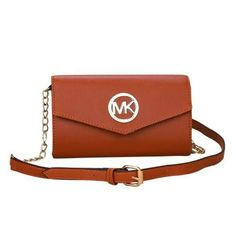 Michael Kors Fulton Flap Messenger Medium Tan Crossbody Bags