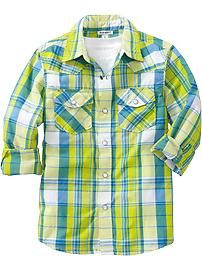Boys Plaid Western Shirts #neon #pinparty #ONKidtacular #ONPinParty